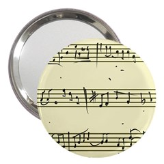Music Notes On A Color Background 3  Handbag Mirrors