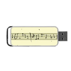 Music Notes On A Color Background Portable Usb Flash (one Side)