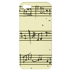 Music Notes On A Color Background Apple iPhone 5 Hardshell Case