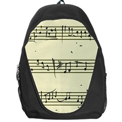 Music Notes On A Color Background Backpack Bag