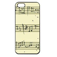 Music Notes On A Color Background Apple iPhone 5 Seamless Case (Black)