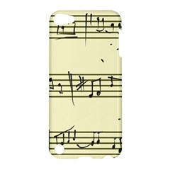 Music Notes On A Color Background Apple Ipod Touch 5 Hardshell Case