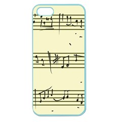Music Notes On A Color Background Apple Seamless iPhone 5 Case (Color)