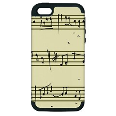 Music Notes On A Color Background Apple Iphone 5 Hardshell Case (pc+silicone)