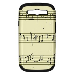 Music Notes On A Color Background Samsung Galaxy S III Hardshell Case (PC+Silicone)