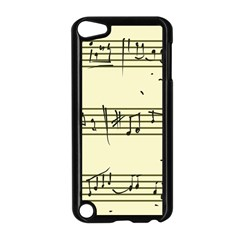 Music Notes On A Color Background Apple iPod Touch 5 Case (Black)