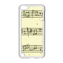 Music Notes On A Color Background Apple iPod Touch 5 Case (White)