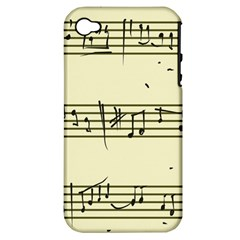 Music Notes On A Color Background Apple iPhone 4/4S Hardshell Case (PC+Silicone)