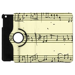 Music Notes On A Color Background Apple iPad Mini Flip 360 Case
