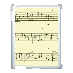 Music Notes On A Color Background Apple Ipad 3/4 Case (white)