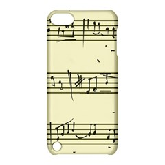Music Notes On A Color Background Apple Ipod Touch 5 Hardshell Case With Stand
