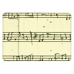 Music Notes On A Color Background Samsung Galaxy Tab 8 9  P7300 Flip Case