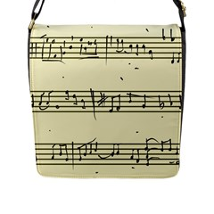 Music Notes On A Color Background Flap Messenger Bag (L)