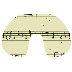 Music Notes On A Color Background Travel Neck Pillows