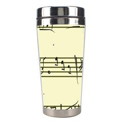 Music Notes On A Color Background Stainless Steel Travel Tumblers
