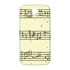 Music Notes On A Color Background Samsung Galaxy S4 I9500/I9505  Hardshell Back Case