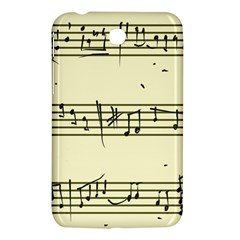 Music Notes On A Color Background Samsung Galaxy Tab 3 (7 ) P3200 Hardshell Case