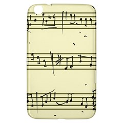 Music Notes On A Color Background Samsung Galaxy Tab 3 (8 ) T3100 Hardshell Case