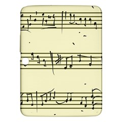 Music Notes On A Color Background Samsung Galaxy Tab 3 (10 1 ) P5200 Hardshell Case