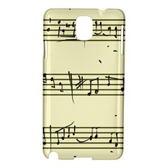 Music Notes On A Color Background Samsung Galaxy Note 3 N9005 Hardshell Case