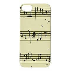 Music Notes On A Color Background Apple iPhone 5S/ SE Hardshell Case