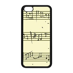 Music Notes On A Color Background Apple iPhone 5C Seamless Case (Black)