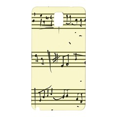 Music Notes On A Color Background Samsung Galaxy Note 3 N9005 Hardshell Back Case