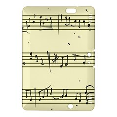 Music Notes On A Color Background Kindle Fire Hdx 8 9  Hardshell Case