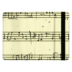 Music Notes On A Color Background Samsung Galaxy Tab Pro 12.2  Flip Case