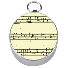 Music Notes On A Color Background Silver Compasses