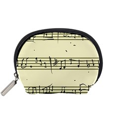 Music Notes On A Color Background Accessory Pouches (Small)
