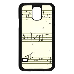 Music Notes On A Color Background Samsung Galaxy S5 Case (Black)