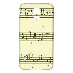 Music Notes On A Color Background Samsung Galaxy S5 Back Case (White)