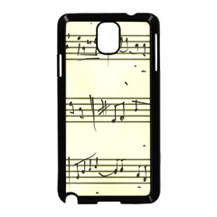 Music Notes On A Color Background Samsung Galaxy Note 3 Neo Hardshell Case (black)