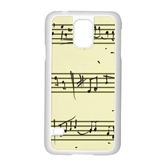 Music Notes On A Color Background Samsung Galaxy S5 Case (White)