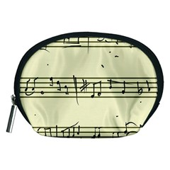 Music Notes On A Color Background Accessory Pouches (Medium)