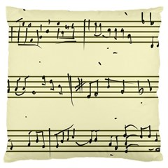 Music Notes On A Color Background Large Flano Cushion Case (two Sides)