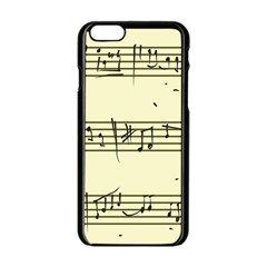Music Notes On A Color Background Apple Iphone 6/6s Black Enamel Case