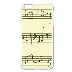 Music Notes On A Color Background Apple Iphone 6 Plus/6s Plus Enamel White Case