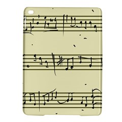 Music Notes On A Color Background Ipad Air 2 Hardshell Cases