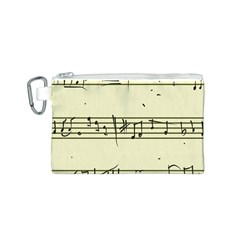 Music Notes On A Color Background Canvas Cosmetic Bag (S)