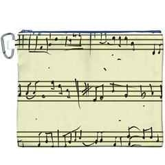 Music Notes On A Color Background Canvas Cosmetic Bag (xxxl)