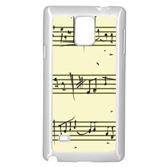 Music Notes On A Color Background Samsung Galaxy Note 4 Case (white)