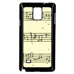 Music Notes On A Color Background Samsung Galaxy Note 4 Case (Black)