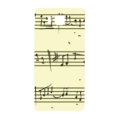 Music Notes On A Color Background Samsung Galaxy Alpha Hardshell Back Case