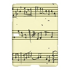 Music Notes On A Color Background Samsung Galaxy Tab S (10 5 ) Hardshell Case