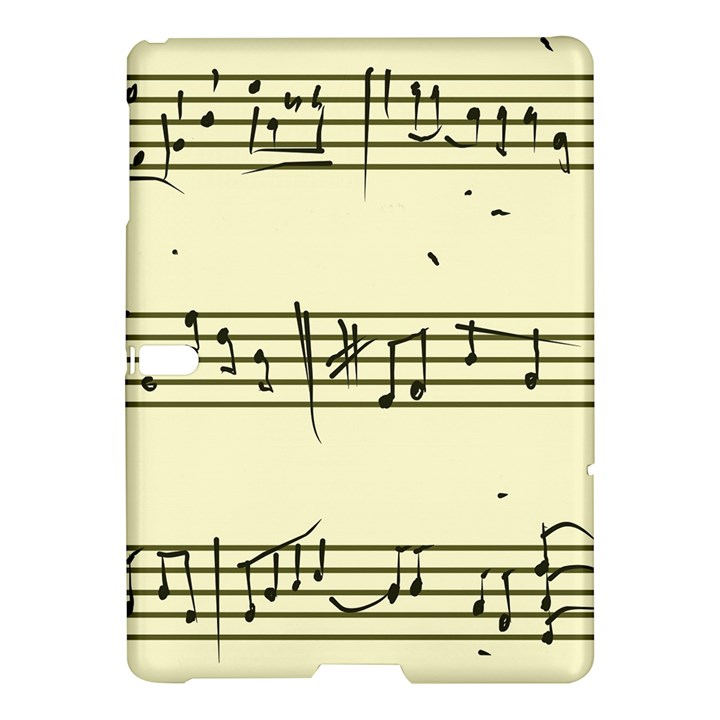 Music Notes On A Color Background Samsung Galaxy Tab S (10.5 ) Hardshell Case