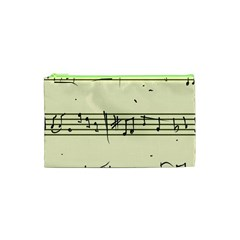 Music Notes On A Color Background Cosmetic Bag (XS)