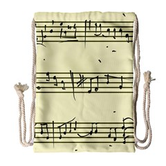 Music Notes On A Color Background Drawstring Bag (large)
