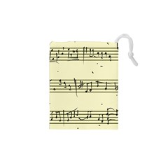 Music Notes On A Color Background Drawstring Pouches (XS)